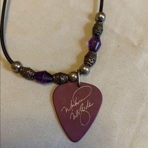 Martina McBride Guitar Pick Necklace